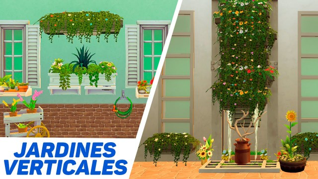 Jardines verticales en Los Sims 4 | Tutorial y review