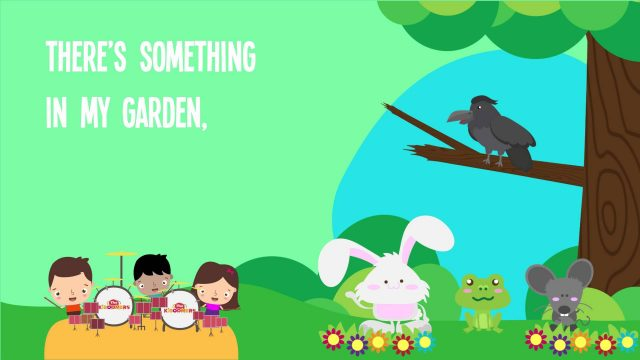 There's Something in My Garden Song Lyrics for Kids | Animal Songs for Preschoolers