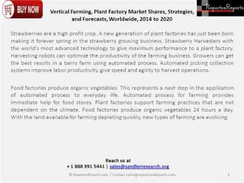 Plant Factory Market: Vertical Farming Developments Analysis in 2020 Report