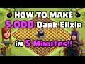 How to Farm 5,000 Dark Elixir in 5 Minutes!! Clash of Clans – DE Farming Strategy