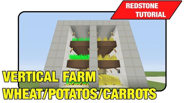 "Vertical Farm [Wheat/Potato's/Carrots] ""Tutorial"" (Minecraft Xbox 360/One/Ps3/Ps4 TU17)"