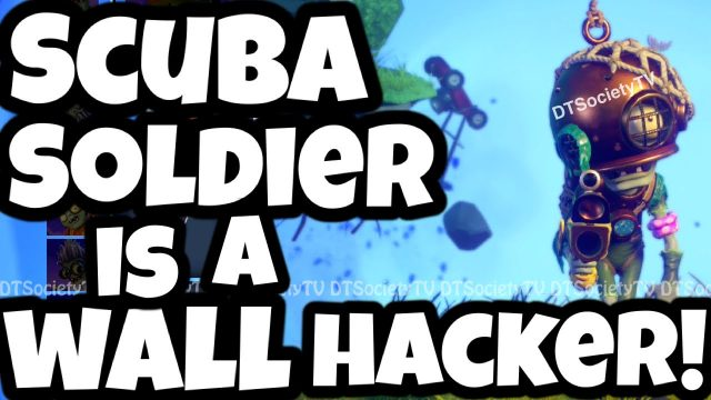 """WALL HACKER!"" Plants vs Zombies Garden Warfare 2 NEW Gameplay with Scuba Soldier!"