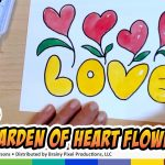 Painting Love Garden of Heart Flowers Watercolor for Kids by Cynthia Parsons | CP