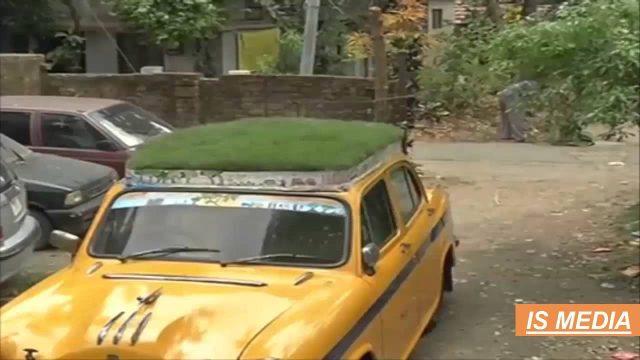 [IS MEDIA] Kolkata Green grass roof Taxi |Kolkata News