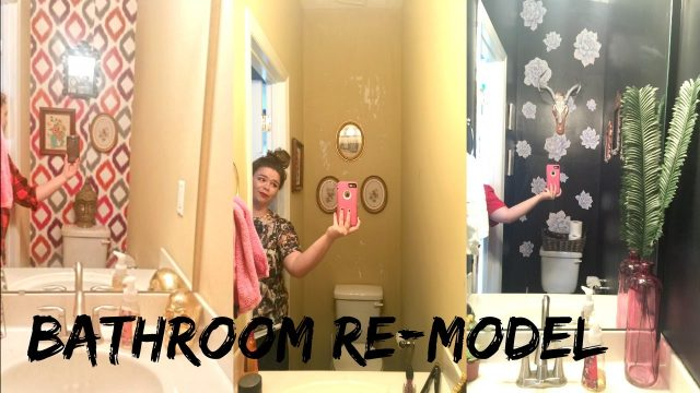 WATCH ME RE-DECORATE MY BATHROOM || SUCCULENT WALL DECALS
