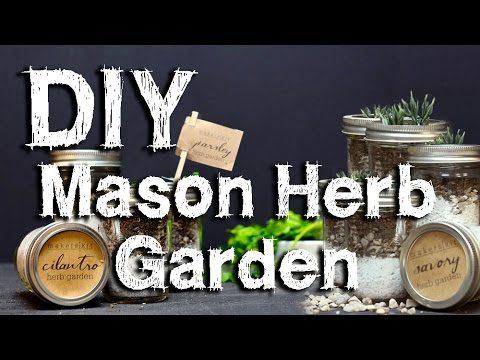 How to make a Mason Jar Herb Garden Terrarium