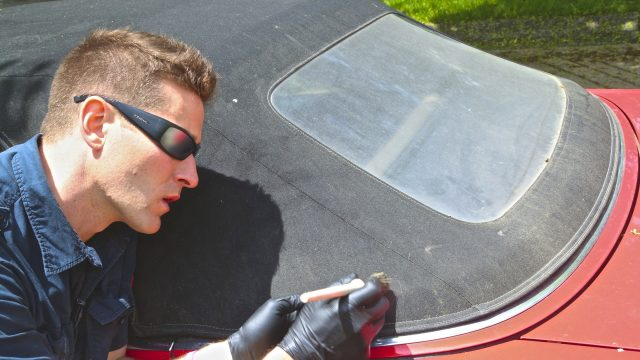 """How to Clean Convertible Top & Restore """"Yellow"""" Window"""