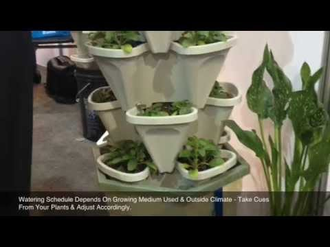 Automatic Watering Garden Tower – Soil & Hydroponics System – Set Up Kit Instructions