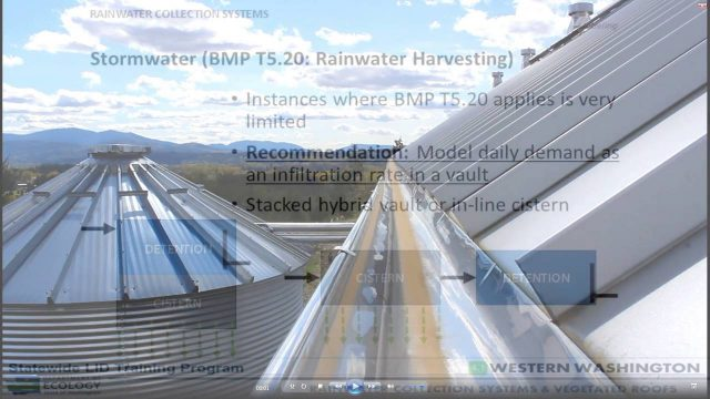5 of 9: Intermediate LID Design: Rainwater Collection Systems and Vegetated Roofs:  Module 3.5
