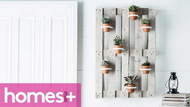 DIY PROJECT: Vertical garden hanging pots – homes+