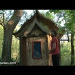 Art of living in a Dordogne tiny mud home with living roof