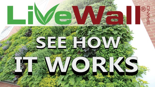 How The LiveWall Living Wall System Works