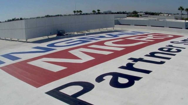 Ingram Micro Gets Company Logo Painted on their Roof