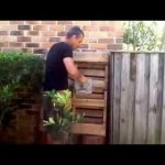 How to build a easy vertical garden from a recycled palette.    Step by step instructions.
