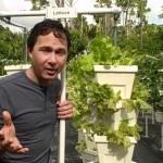 Teaching Kids Vertical Hydroponic Growing & Raised Bed Gardening at Pine Jog School in South Florida