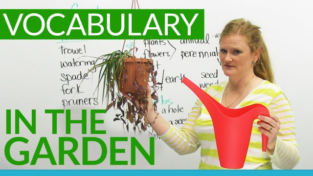 English Vocabulary: In the GARDEN