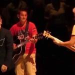 U2 – Angel of Harlem (Bono gives kid guitar) – Boston Garden, Boston, MA – July 11, 2015