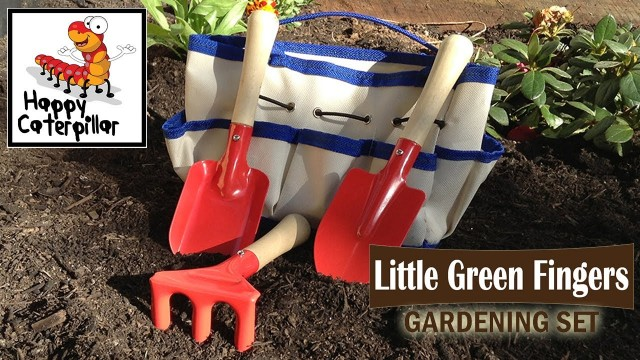 Childrens Gardening Tools and Bag – Perfect size for little hands to help with the gardening
