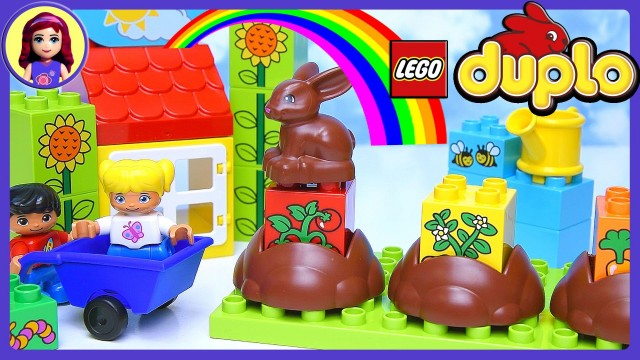 Learn How Gardens Grow Duplo Lego My First Garden Build Review Play – Kids Toys