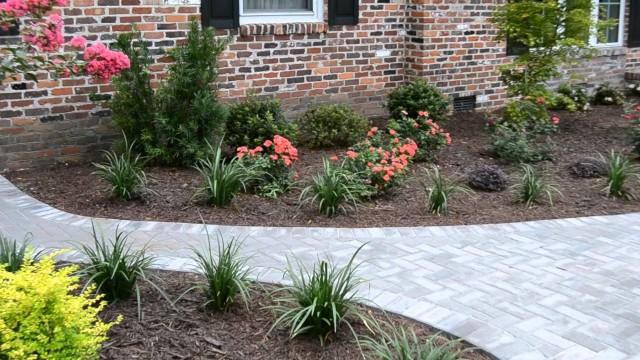 Landscape Design & Installation- Brick Home Charleston, SC