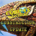 Busch Gardens Tampa Bay Cobra's Curse Construction Update 3.1.16 Going Face To Fang!