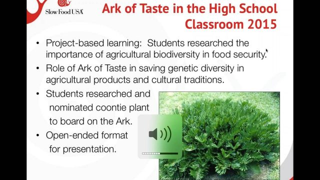 January School Garden Webinar: Ark of Taste & Biodiversity in School Gardens
