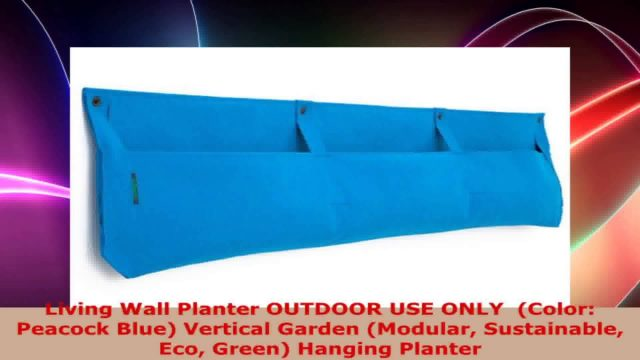 Living Wall Planter OUTDOOR USE ONLY  Color Peacock Blue Vertical Garden Modular
