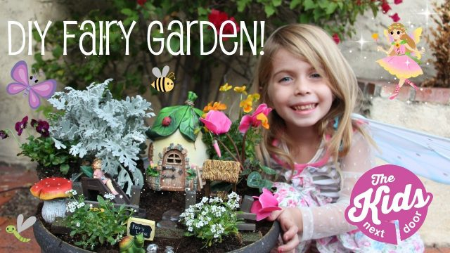DIY FAIRY GARDEN | How to make a fairy garden for Kids | The Kids Next Door