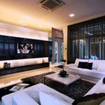 Coole Gardinen Ideen Wohnwand Wohnzimmer