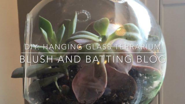 DIY: Hanging glass terrarium using succulents | Blush & Batting Blog