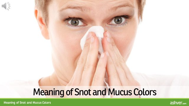 Meaning of Snot and Mucus Colors
