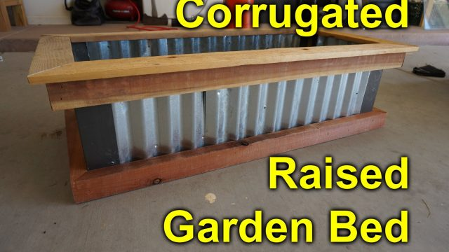 Corrugated raised garden bed – DIY Easy build project to beautify you garden