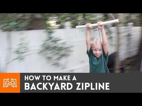Backyard zipline // How-To
