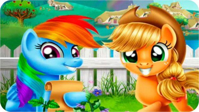 My Little Pony for Kids – Pony Rainbow Dash and Applejack Veggie Garden