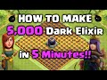 How to Farm 5,000 Dark Elixir in 5 Minutes!! Clash of Clans – DE Farming Strategy
