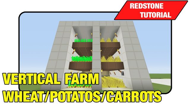 "Vertical Farm [Wheat/Potato's/Carrots] ""Tutorial"" (Minecraft Xbox 360/One/Ps3/Ps4 TU17)"