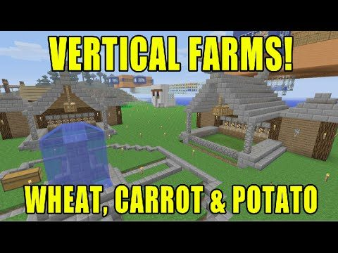Minecraft Xbox Ep 31 Building Wheat, Carrot & Potato Farms! (Vertical Farms)