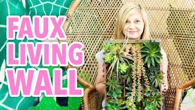 DIY Faux Living Succulent Wall – HGTV Handmade