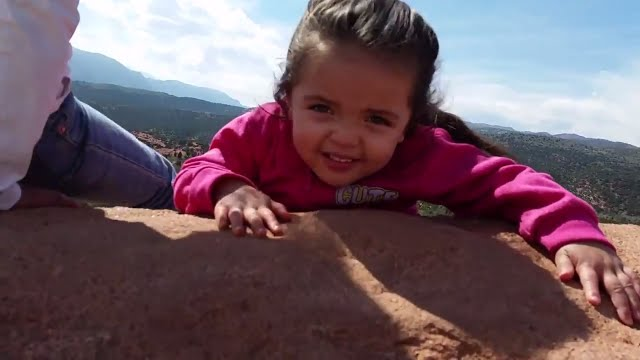 DON'T FALL OFF CLIFF Kid's! Garden of the Gods Colorado Adventure