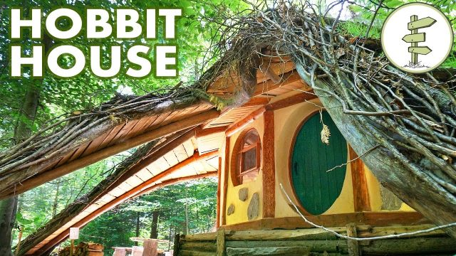 Tiny Hobbit House with Amazing Green Roof – Off Grid Straw Bale Cabin