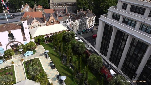 Aerial Filming in London – Kensington Roof Gardens (filmed with a remote controlled hexarotor)
