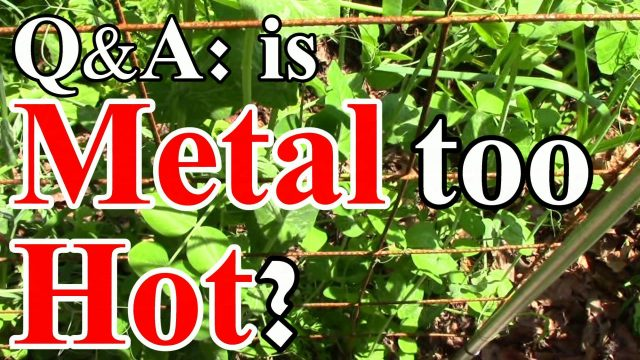 Q&A: Will Remesh Trellises Scorch Plants? Will Rust Harm the Soil? & More