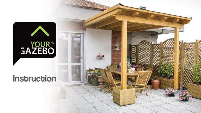 Flat roof gazebo – DIY gazebo – YourGazebo.com