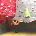 Suzan on the brown roof at Climb Newcastle