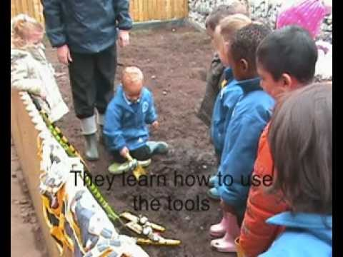Learning Basic Gardening Skills At Nottingham Nursery School