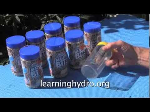 Low Cost Clear Plastic Jars for Hydroponic Components