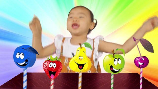 Finger Color Family w Fruits Colours ! Learn Color Video for kids! Garden Kids TV