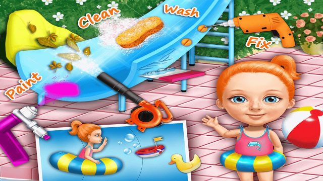 Childrens Learn Garden Chores with Sweet Baby Clean Up 4 | Education Game for Kids Play & Learn