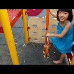 Cute kids plays at playground fun park | kids garden