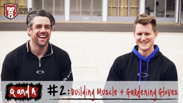 Q and A #2 – Building Muscle and Gardening Gloves | School of Calisthenics